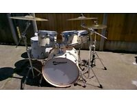 Drum kit Premier Artist Heritage Birch White Marine Pearl (2008) 6-piece