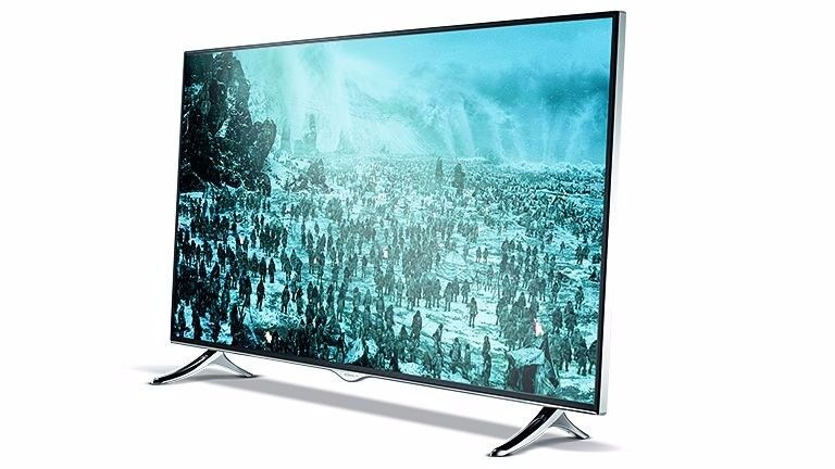 Hitachi 49-Inch 4K UHD WiFi FVHD Smart LED TV - with wall stand