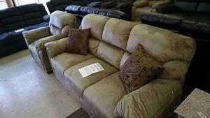 NEW 3PC Tan Velvet Sofa Set