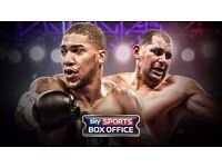 2 x Anthony Joshua v Eric Molina Tickets. 10th December - MEN Manchester. Lower tier seats GOOD VIEW