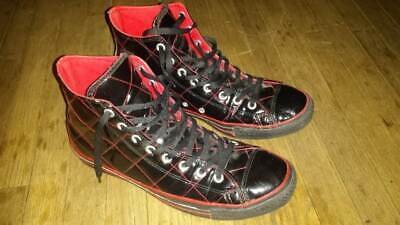 Chuck Taylor Red Top (CONVERSE CHUCK TAYLOR HI TOP SHOES BLACK RED QUILTED PATENT LEATHER SIZE 11 )
