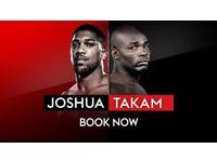 ANTHONY JOSHUA VS CARLOS TAKAM *LESS THAN FACE VALUE*. £60 TIXS FOR £40