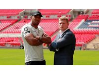 X2 sold out tickets for Anthony Joshua vs povetkin