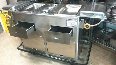 Steam Table Hot Dog Stand D 55 X 26 X 34 H Stainless 2 Drawers 2 Doors