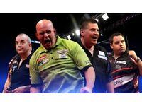 6x World Championship Darts Tickets 22/12/17 Tiered Seats