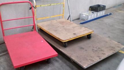 3 Solid Platform trolley for sale
