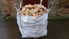 1ton bulk bag of barn dried seasoned hardwood firewood log £60 with free delivery and stacking.