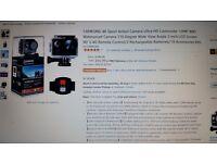 4K Action Cam - Waterproof - FHD 60fps - Remote - Anti shake - Sony Sensor