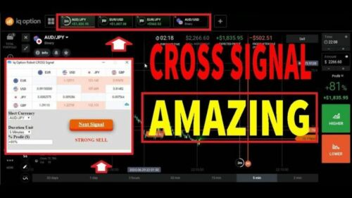 IQ OPTION  Cross Signal Robot  binary option