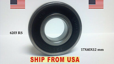Qty 10 6203-2rs Ball Bearing 17x40x12 6203 Rs Sealed Ball Bearings