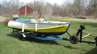 Rare 1947 Feathercraft Boat Motor and Trailer