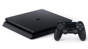 PS4 Slim 500GB video game system works perfectly in good condit