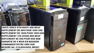 ordinateur Gamer Vostro i7-2600, 2TB, GTX1050ti 4GB
