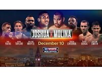 ANTHONY JOSHUA VS ERIC MOLINA CHAMPIONSHIP BOXING @ MEN ARENA MANCHESTER - SAT DECEMBER 10