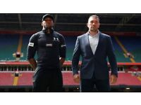 2 x Anthony Joshua v Kubrat Pulev 28th October Principality Staudium