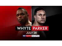 Whyte vs Parker Tickets x 2 for Sale