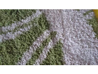 rug/carpet green and white, good condition