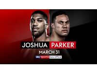 ANTHONY JOSHUA V JOSEPH PARKER TICKETS