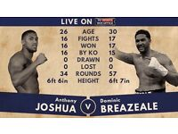 2 Anthony Joshua vs Breazeale tickets