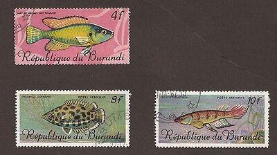 Burundi. 2 x scans.(used) Christ, religion & Fish