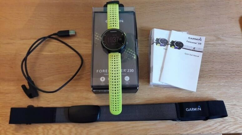 Garmin Forerunner 230 Gps Smart Watch Garmin Hr Strap In