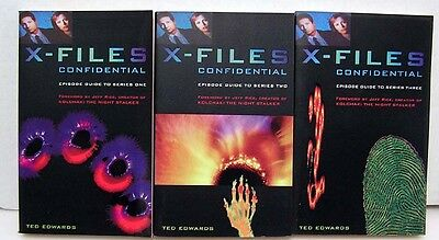X-Files Confidential TV Series Paperback Book Set of 3- FREE S&H (BookSet-118)