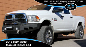 2015 Dodge Ram 3500 4x4 Diesel Crew *Manual! Lift, 35s, Deleted!