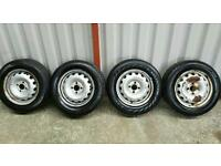 CHEAP SET OF 14 INCH RIMS WITH TYRES 4X100 £60