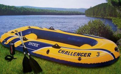 Schlauchboot Challenger 3 Set mit Paddel +Pumpe Paddelboot Ruderboot Intex 68370