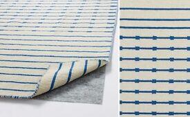 Stylish flat weave wool Tjareby Ikea rug 170 x 240 cm- I have 2 rugs, buy one or both