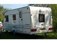4 berth caravan for sale. Manufacturer, Bailey. Model, Pageant Champagne