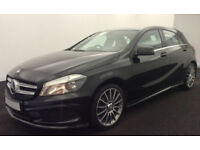 BLACK MERCEDES-BENZ A180 1.5 CDI SPORT AMG LINE A200 A220 1.8 FROM £67 PER WEEK