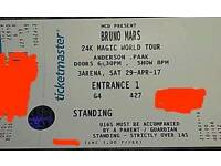 Bruno Mars standing ticket Dublin 29th April