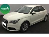 £180.51 PER MONTH WHITE 2012 AUDI A1 1.6 TDI SE 5 DOOR DIESEL MANUAL