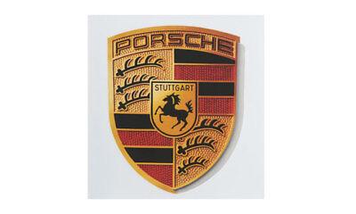 Porsche Crest Sticker Colored Crest Black Red Gold Porsche Design - Sticker Designs