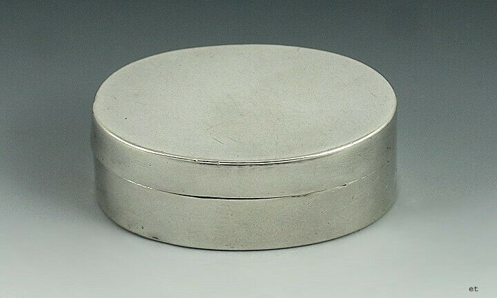 18th Century English Georgian Sterling Silver Oval Vinaigrette Scent Box 1798