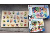 3x puzzles Bing and alphabet