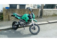 Road legal 160cc registerd as 125cc pit bike