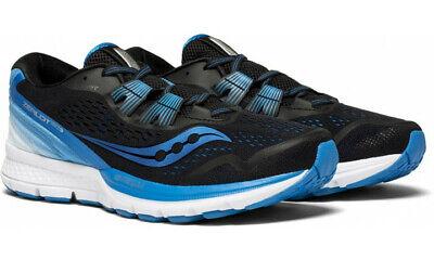 Saucony Blue Shoes - Saucony Zealot ISO 3 Men's Running Shoes Black/Blue/White, Size 11 M