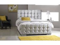 WOW OFFER! BRAND NEW 4FT6 DOUBLE OR 5FT KING CHESTERFIELD CRUSH VELVET BED IN DIFFERENT COLOURS