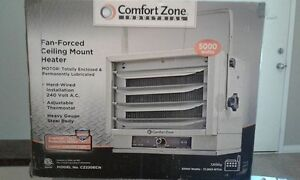 Two 5000W ceiling mount heaters
