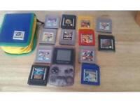 Nintendo game boy colour + 12 games