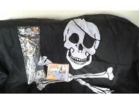 Pirate bundle - Large Flag, sword, book. - Great Christmas Present