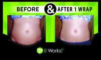 lose 6 inches  in 45 minits with wraps