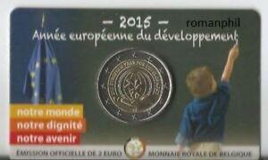 2-euro-Belgio-2015-coincard-034-Anno-europeo-dello-sviluppo-034-vers-francese