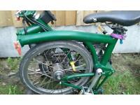 Racing Green Brompton Folding Bike