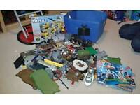 Large collection of mega blocks bricks compatible with lego plus wilko set and storage box
