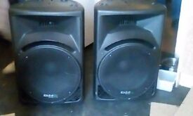 15 inch active powered ibiza speakers 900 watt per side good cond £200 no offers