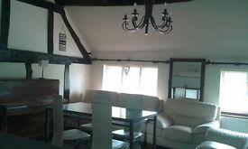 2 bedroom flat each bedroom has own bathroom,large living room-kitchen aneks area,furnished