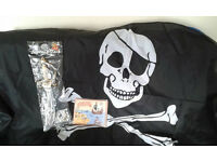 Pirate bundle - Large Flag, sword, book. - Great Christmas Present